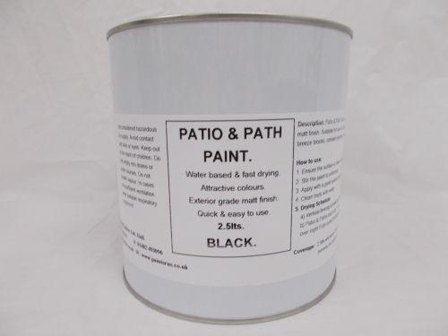2.5lt Patio, Path & Paving Slab Paint Garden BBQ Tarmac - Black