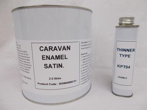 2.5lt Caravan Satin Enamel Paint RAL Colours Mobile Home