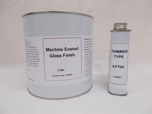 2.5lt Machine Enamel Gloss Paint RAL Colours Machinery Plant