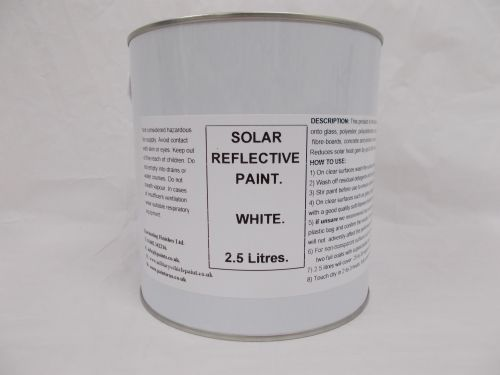 2.5Lt White Conservatory Glass Shading Paint Reduce Solar Heat
