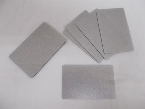 10 Blank PVC Credit Cards Silver ID Card