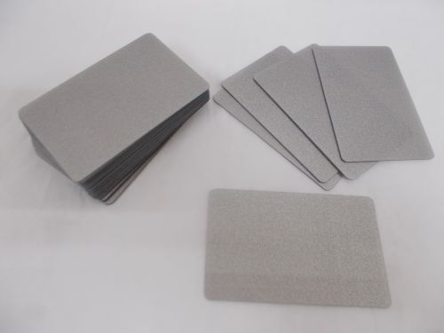 50 Blank PVC Credit Cards Silver ID Card