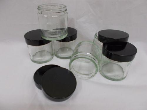 6 x 60ml Glass Jars New Small Jar Cosmetic Food Cream Pot