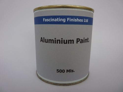 500Mls Aluminium Paint Heat Resistant Silver Wood & Metal