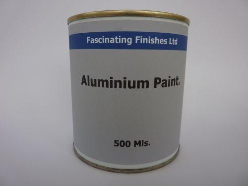 500Mls Aluminium Paint Heat Resistant Silver Wood & Metal
