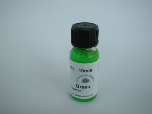 1 x 10ml Green Hi Vis Florescent Float Paint With Brush