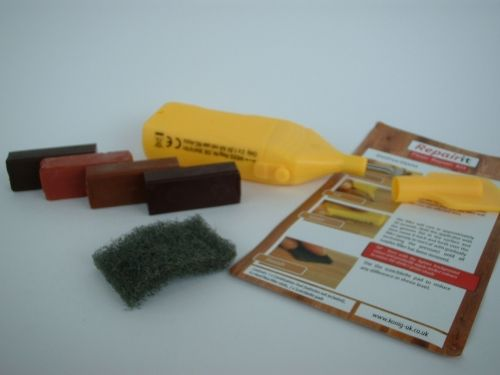 Laminate Floor, Worktop, Furniture, Melamine Repair Kit Dark Wood