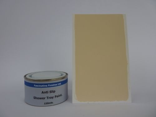 1 x 150ml Cream Anti Slip Shower Tray And Bath Paint