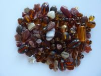 250 Mixed Glass Acrylic Jewellery Making Craft Beads Autumn