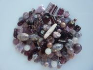 250 Mixed Glass Acrylic Jewellery Making Craft Beads Blackberry Fool