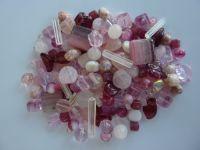 250 Mixed Glass Acrylic Jewellery Making Craft Beads Candy Tuft