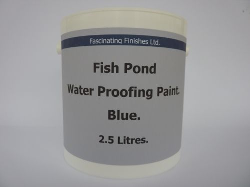 2.5lt Fish Pond Paint Water Proof Ornamental Garden Ponds Pool Blue