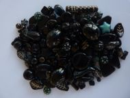 250 Mixed Glass Acrylic Jewellery Making Craft Beads Liquorice