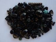 250 Mixed Glass Acrylic Jewellery Making Craft Beads Liquorice