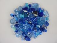 250 Mixed Glass Acrylic Jewellery Making Craft Beads Mediterranean