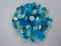 250 Mixed Glass Acrylic Jewellery Making Craft Beads Pacific
