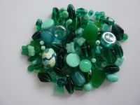 250 Mixed Glass Acrylic Jewellery Making Craft Beads Peacock