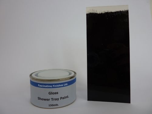 1 x 150ml Jet Black Gloss Shower Tray Paint …