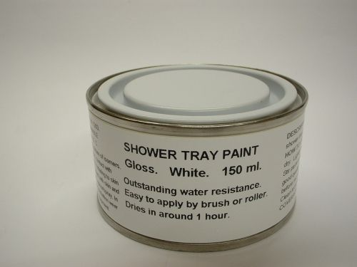 1 x 150ml Gloss White Shower Tray Paint