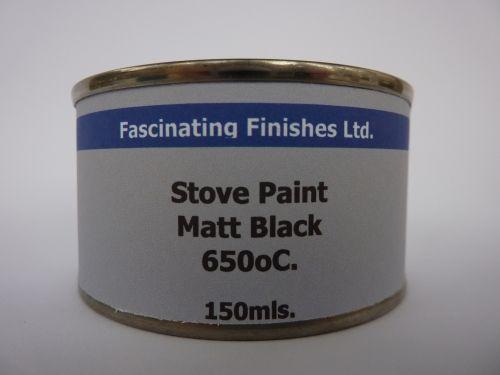 150ml Stove Paint Grate Heat Resistant Matt Black 650C