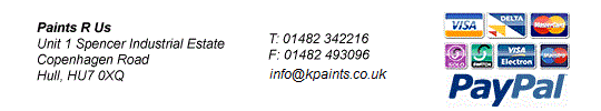 Security - Paints R Us - Number 1 Supplier of your Paint Supplies - We supply paint FAST!!