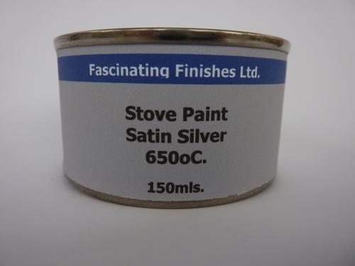 150ml Stove Paint Grate Heat Resistant Silver 650c